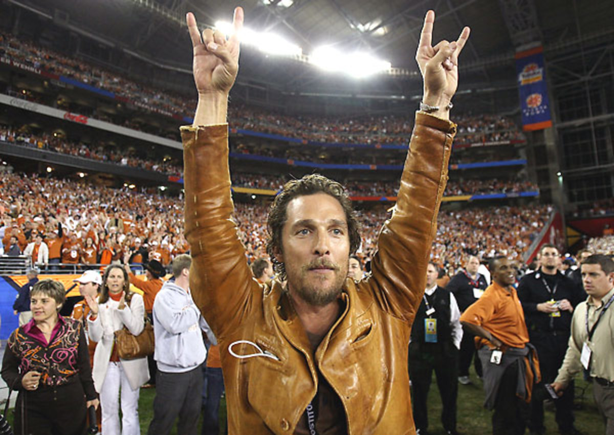 """He's got the right combination of pride and notoriety, not to mention impeccable """"Hook 'Em"""" form."""