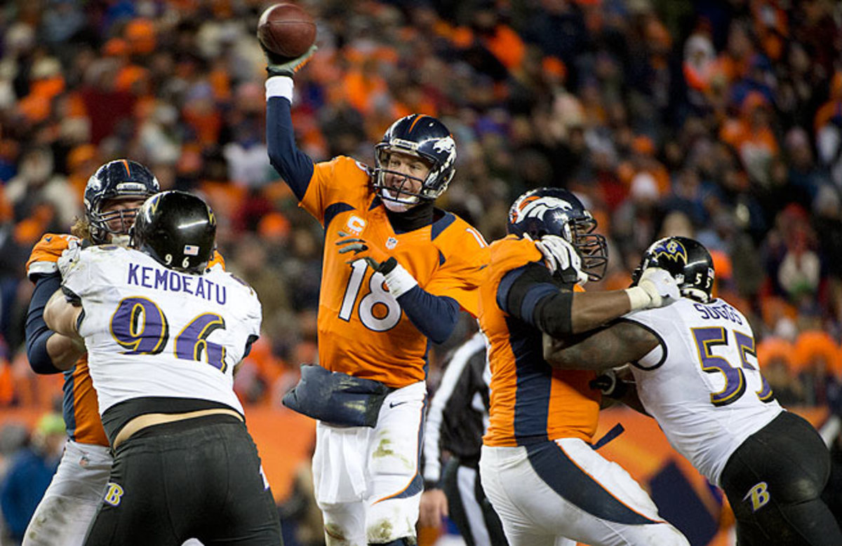 Peyton Manning is seeking revenge after losing to the Ravens in last year's AFC Divisional round.