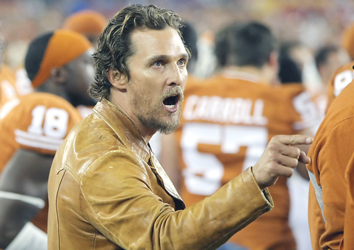 Can't you just imagine the rousing speeches Matthew McConaughey would deliver.