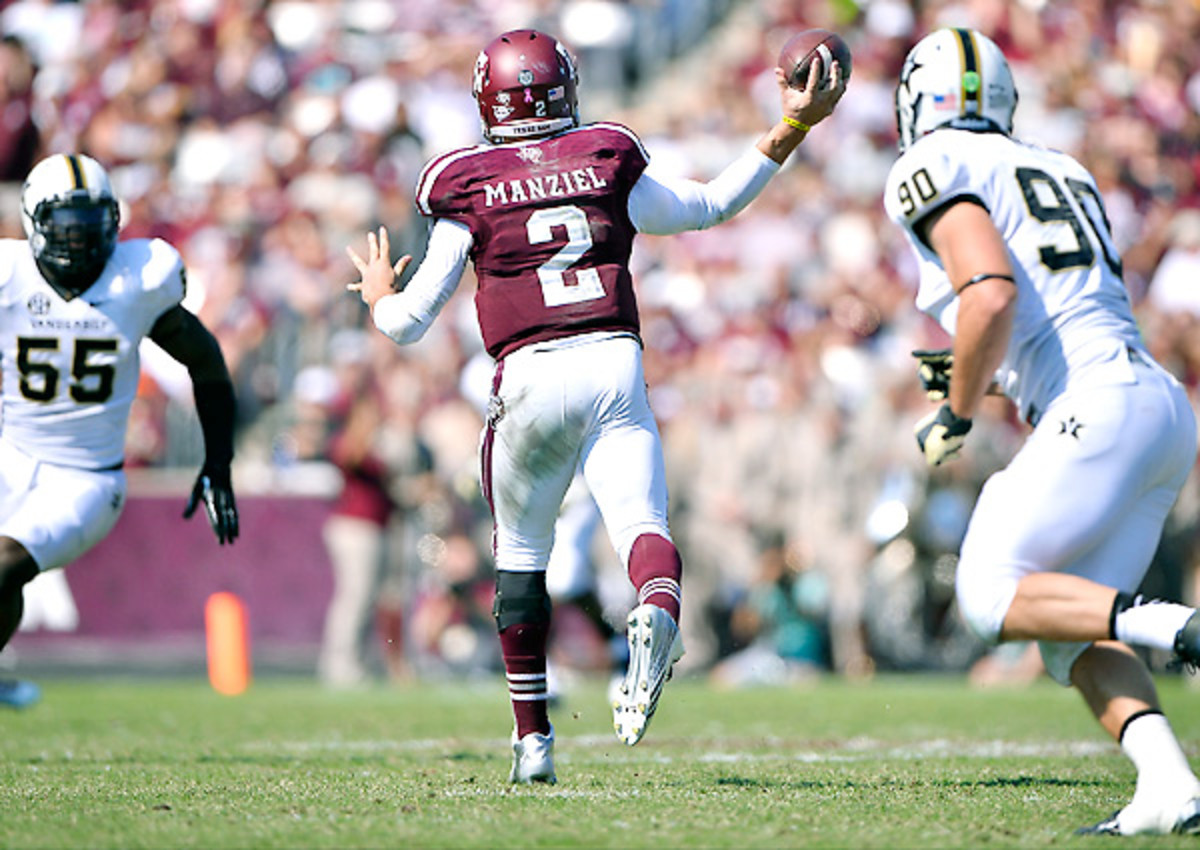 The rushing numbers have dipped, but Johnny Manziel has topped his 2012 season in many ways.