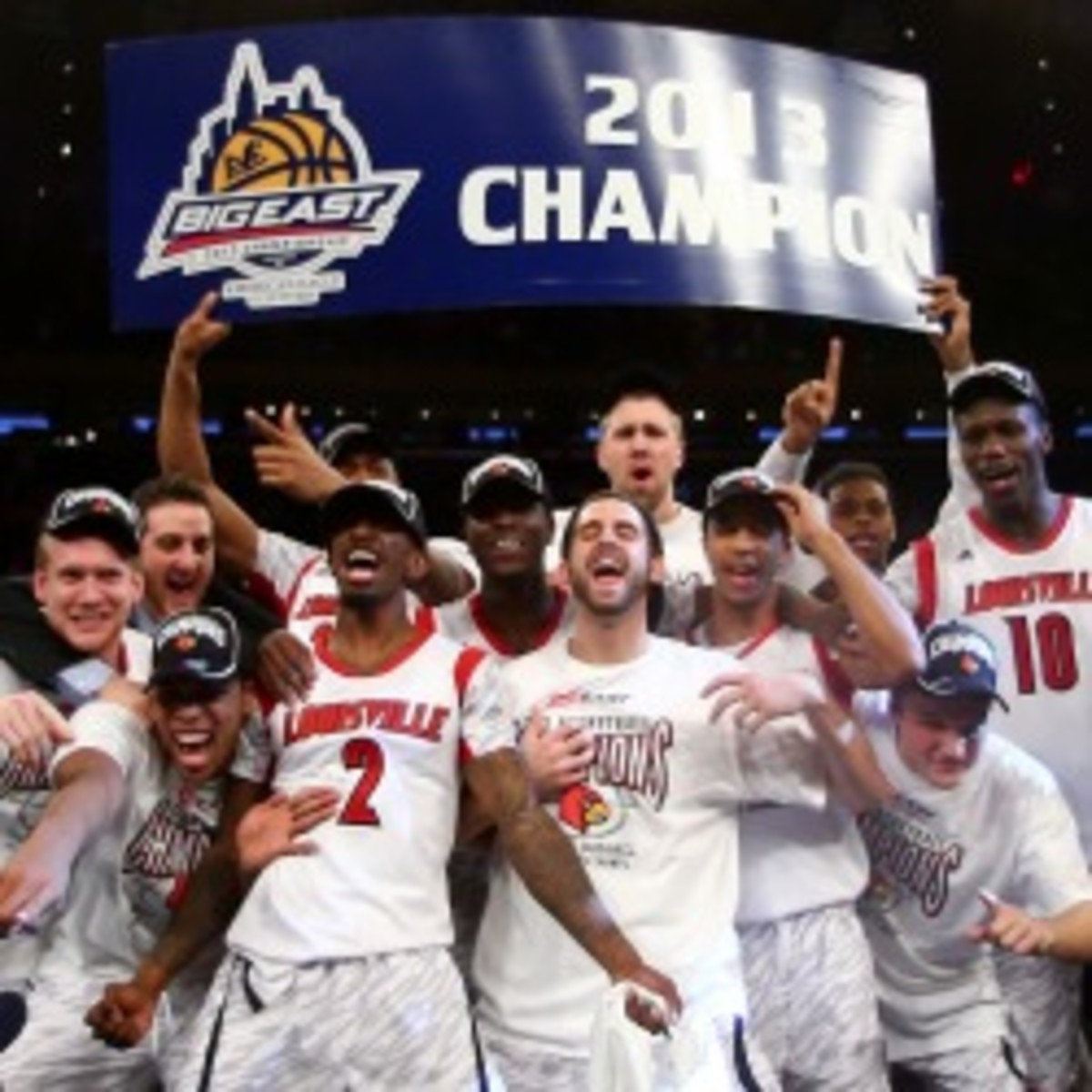 Louisville is the NCAA Tournament favorite and the most valuable college basketball program. (Elsa/Getty Images)