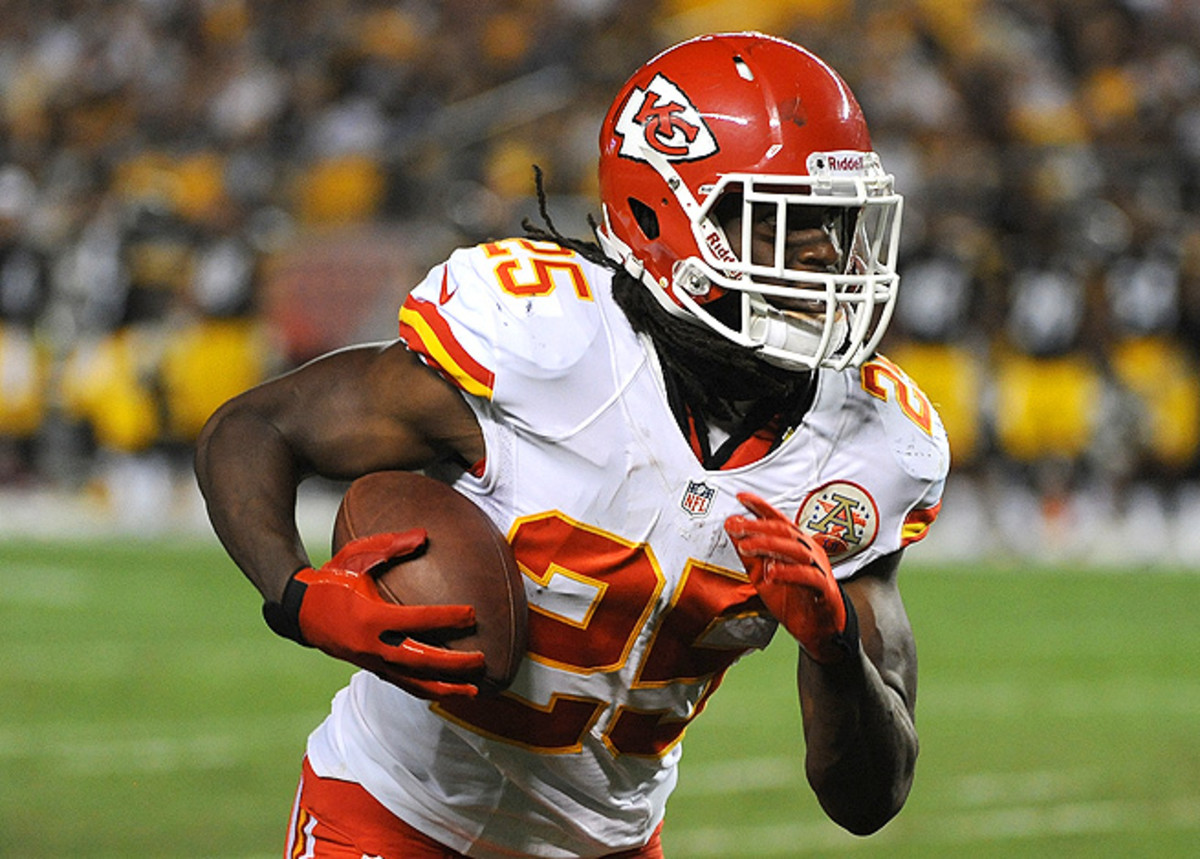 Jamaal Charles has an opportunity to show off his talent against the Jaguars in the NFL's opening week.