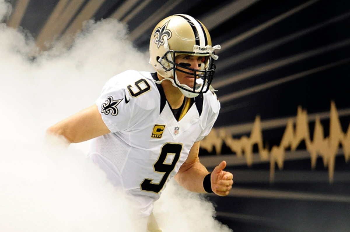 Drew Brees is out of the fire after a difficult 2012 season.
