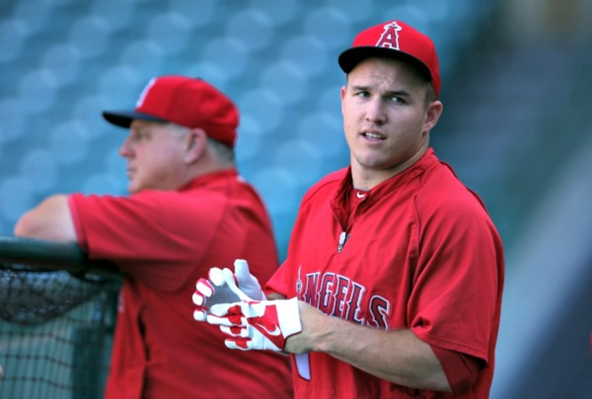 Mike Scioscia said Mike Trout needed a day off. (Jeff Gross/Getty Images)