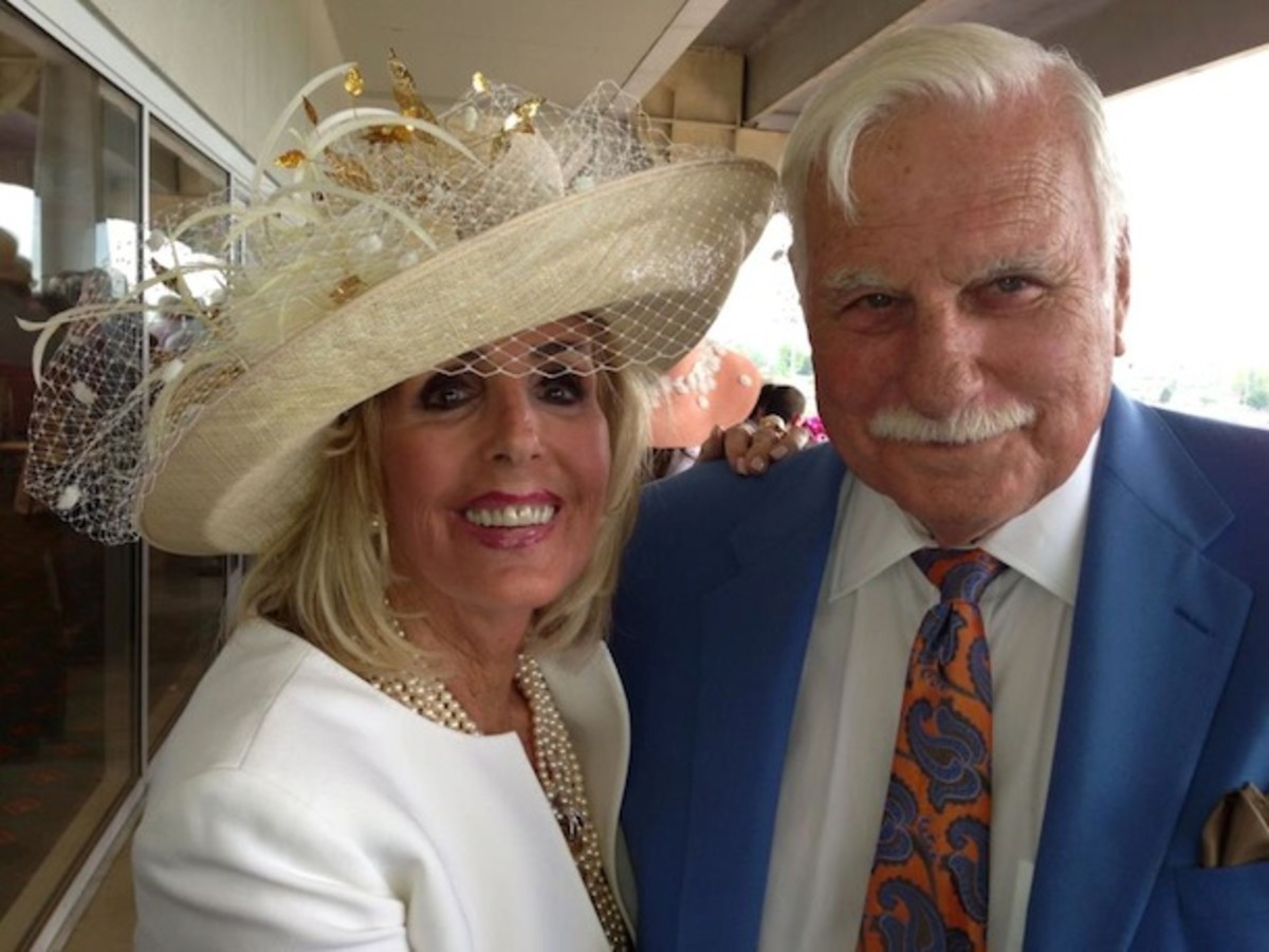 Coach Schnelly and his wife, Beverlee, celebrated their 55th wedding anniversary at the 2013 Kentucky Derby.