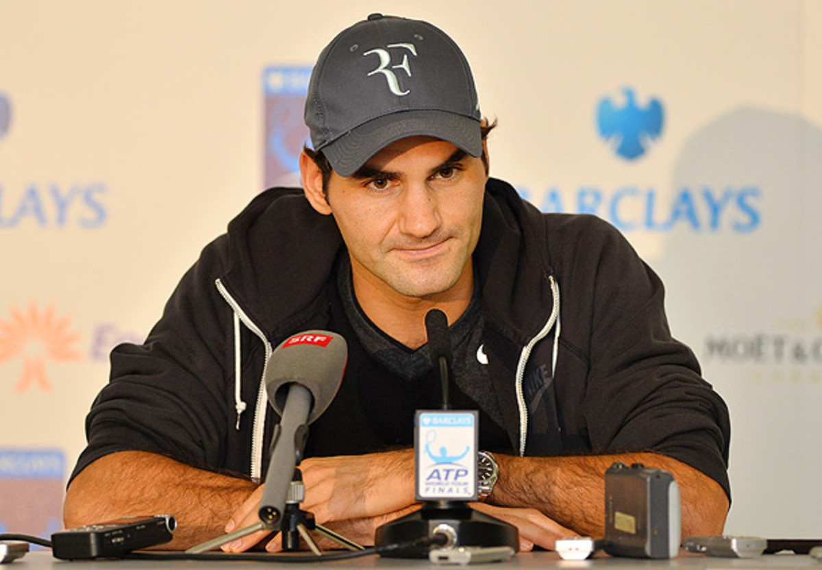 Roger Federer lost to Novak Djokovic twice in less than a week near the end of the season. (Ben Stansall/Getty Images)