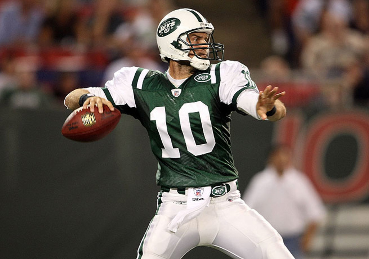 Erik Ainge lasted only three seasons in the NFL as a backup quarterback for the Jets.