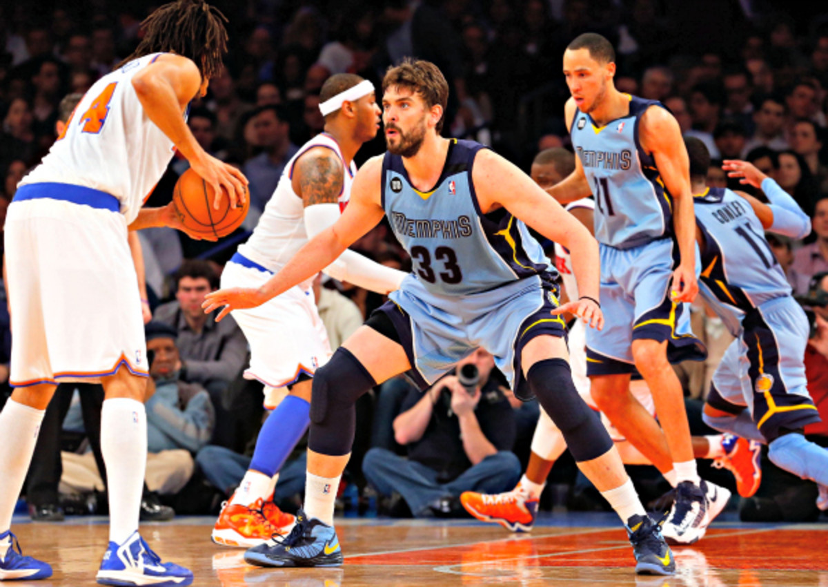 Marc Gasol has been the anchor for Memphis' outstanding defense this season. (Jim McIsaac/Getty Images)