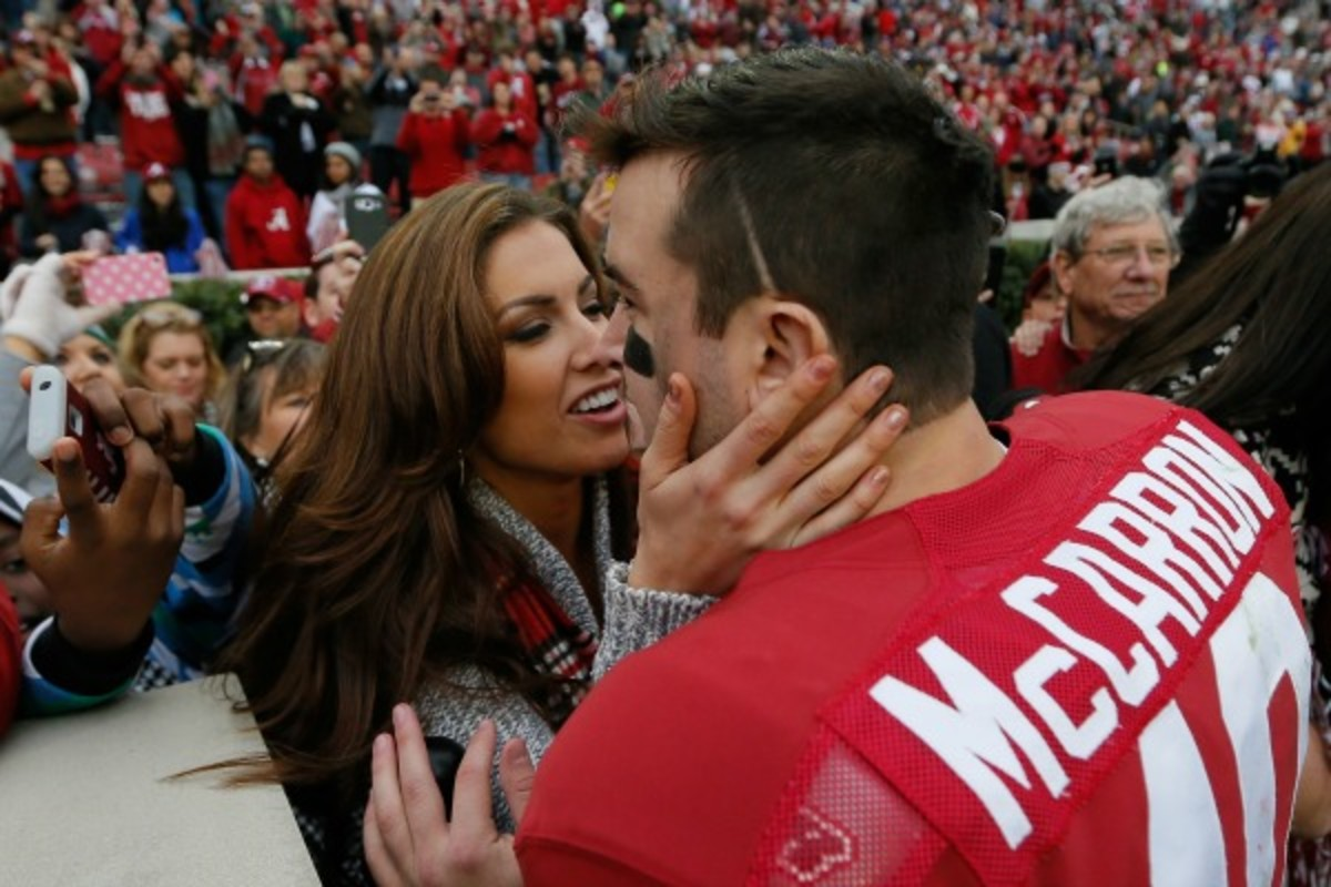 Katherine Webb has built a career off being A.J. McCarron's girlfriend. (Kevin C. Cox/Getty Images)
