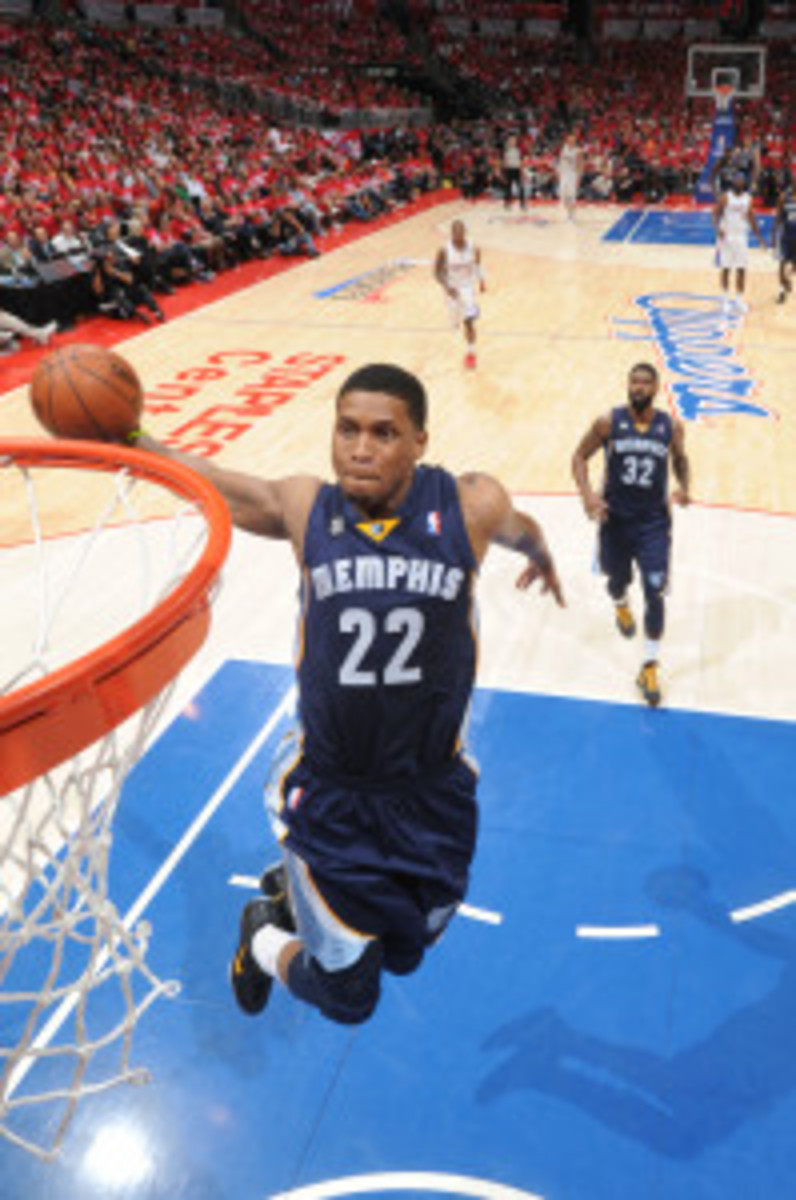 The Grizzlies are still exploring a trade of Rudy Gay and are engaging in active discussions with the Raptors and Celtics. (Andrew D. Bernstein/Getty Images)