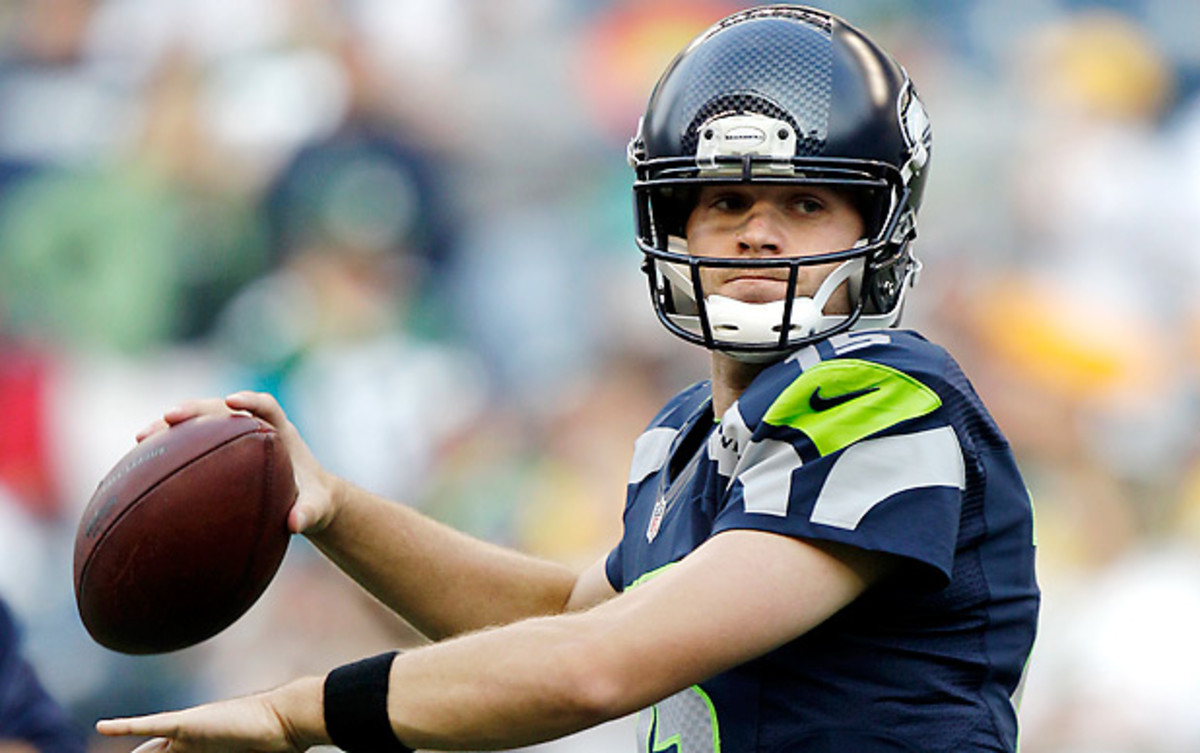 The Seahawks will not release Matt Flynn, according to a report. (Kevin Casey/Getty Images)