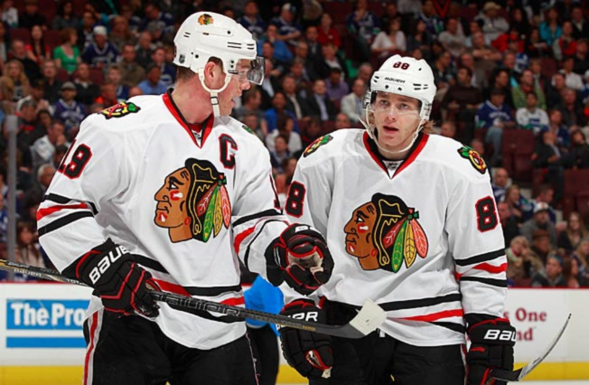 Jonathan Toews and Patrick Kane will be on the same line for Game4 of the Stanley Cup Final.