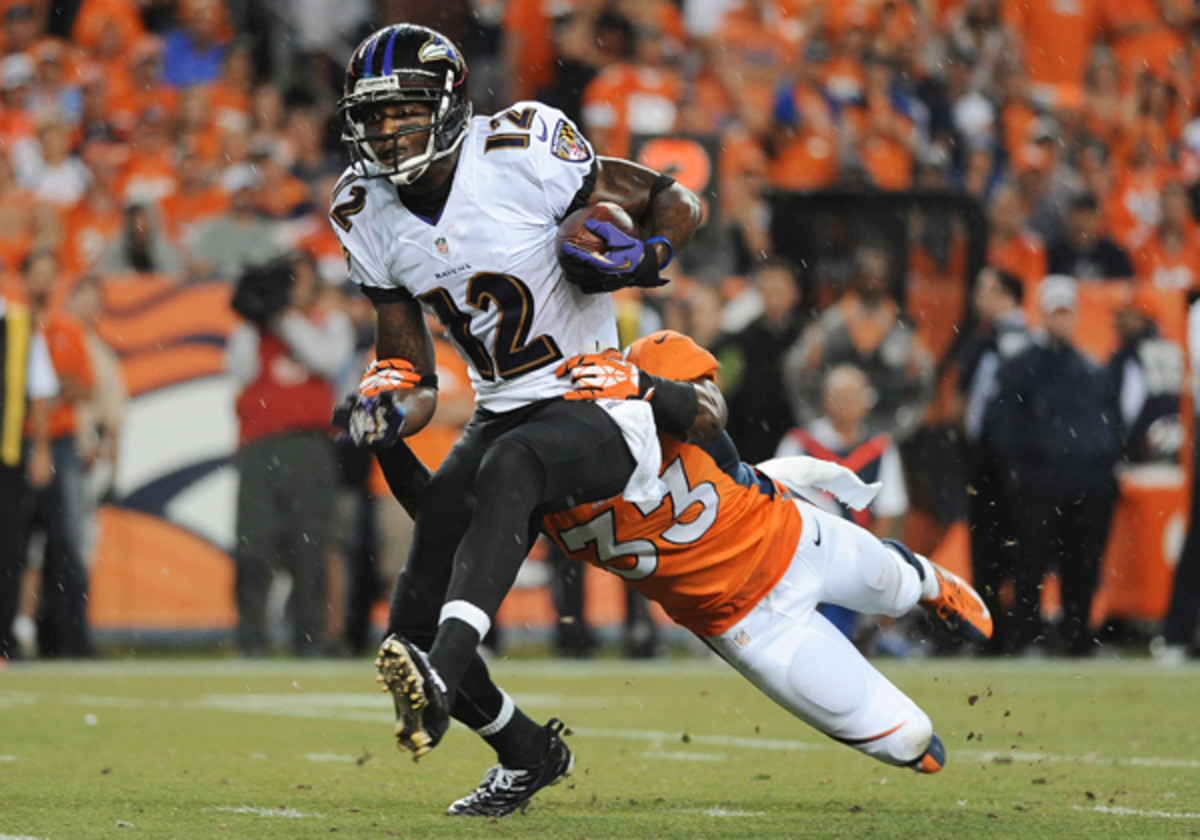 Jacoby Jones hasn't played for the Ravens since the season-opener at Denver.