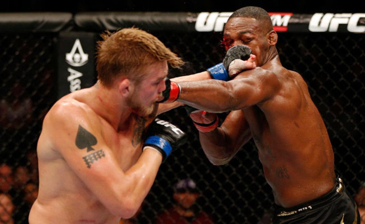 Alexander Gustafsson (left) gave Jon Jones the toughest fight of his UFC career on Saturday.