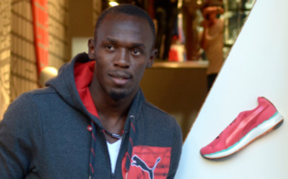 Six-time gold medalist Usain Bolt renewed his contract with Puma for $10 million per year through the 2016 Olympics in Rio. (Robert Marquardt/Getty Images)