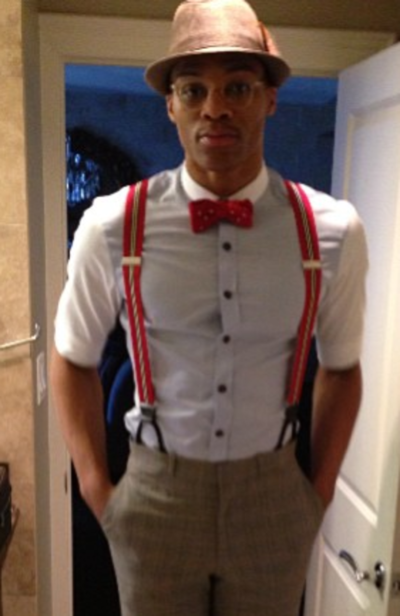 Russell Westbrook's All-Star Sunday outfit. (Westbrook's Instagram)