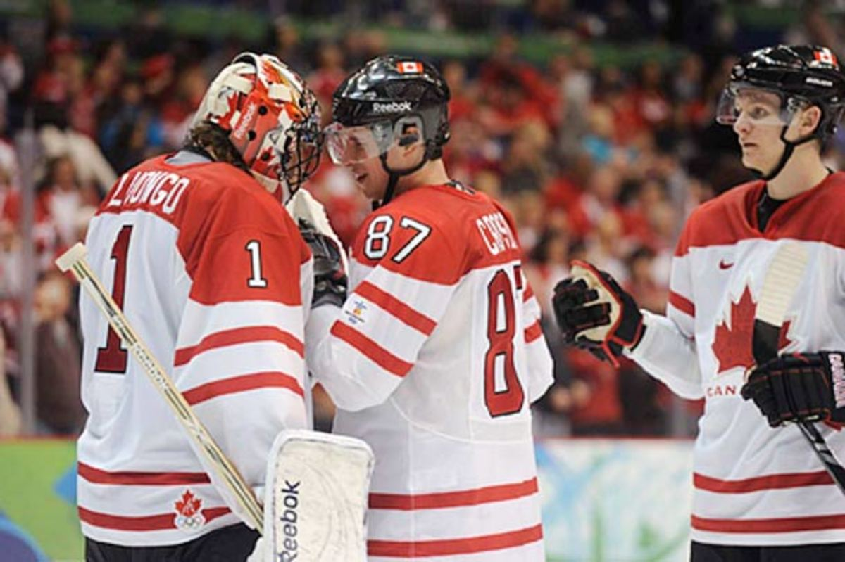 Roberto Luongo and Sidney Crosby were invited to Team Canada's Sochi Olympics orientation camp.
