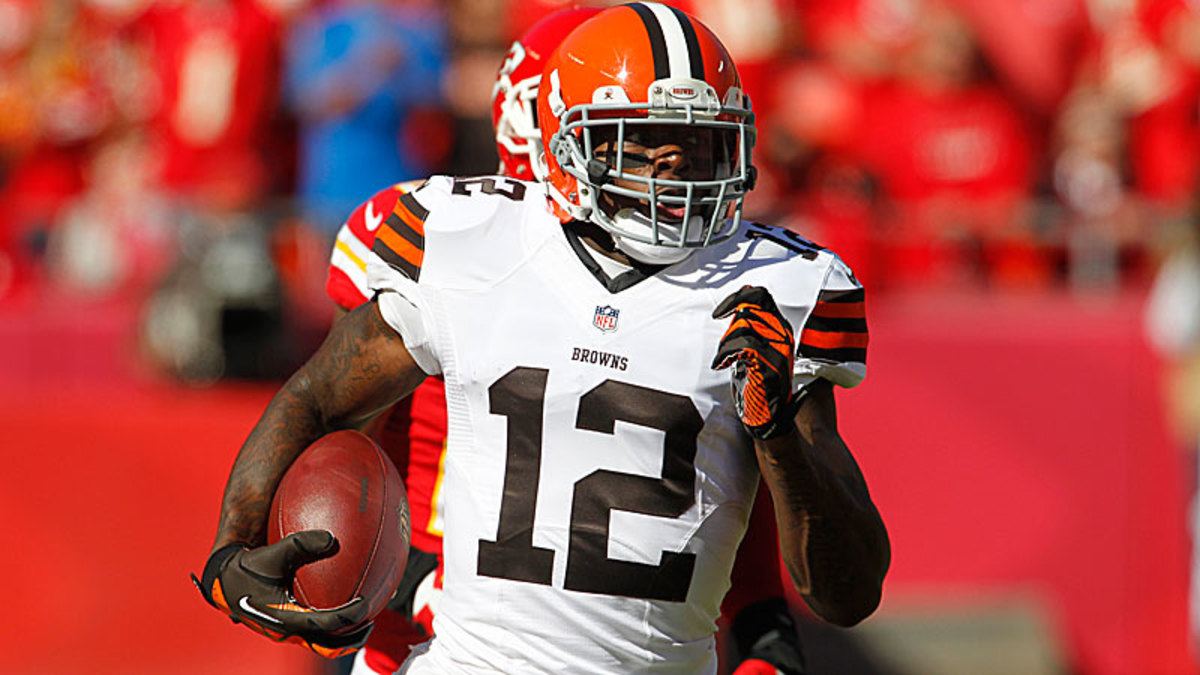 Though the Cleveland Browns insist they are not shopping any of their players, trade rumors have swirled around talented wide receiver Josh Gordon. (Colin E. Braley/AP)