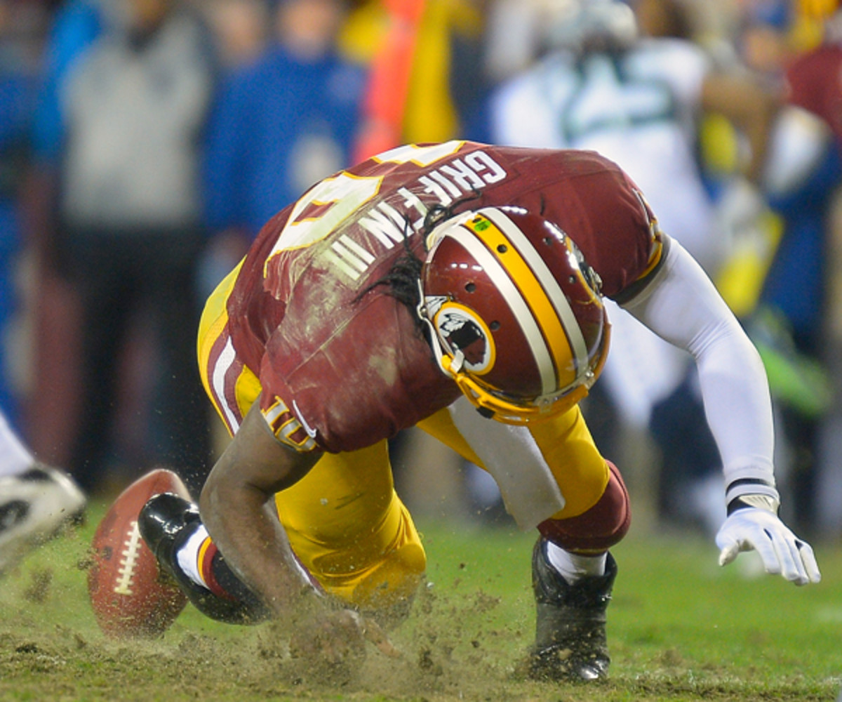 the Washington Redskins play the Seattle Seahawks in the first round of the NFC playoffs