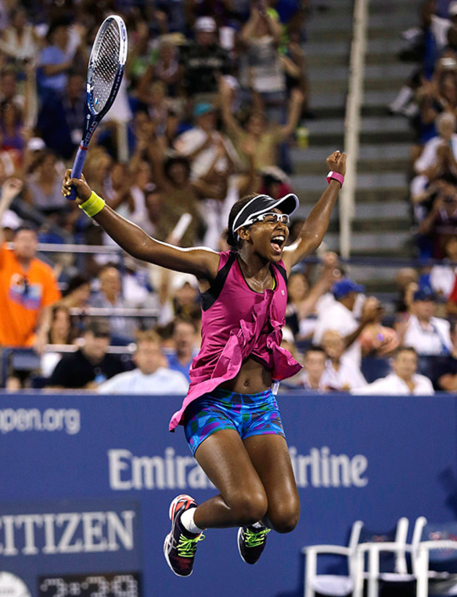 At just 17 years old, Victoria Duval ousted former U.S. Open champion Sam Stosur in the first round of the 2013 U.S. Open. (Charles Krupa/AP)