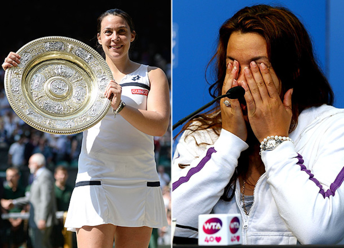 Marion Bartoli won Wimbledon, her first-career victory at a Grand Slam, and then six weeks later, announced her retirement. (Dennis Grombkowski/Getty Images, Matthew Stockman/Getty Images)