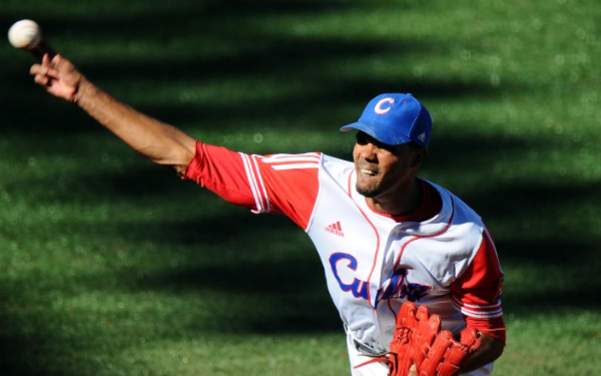 The Phillies have signed Cuban defector Miguel Alfredo Gonzalez. (Dennis Grombkowski/Getty Images)