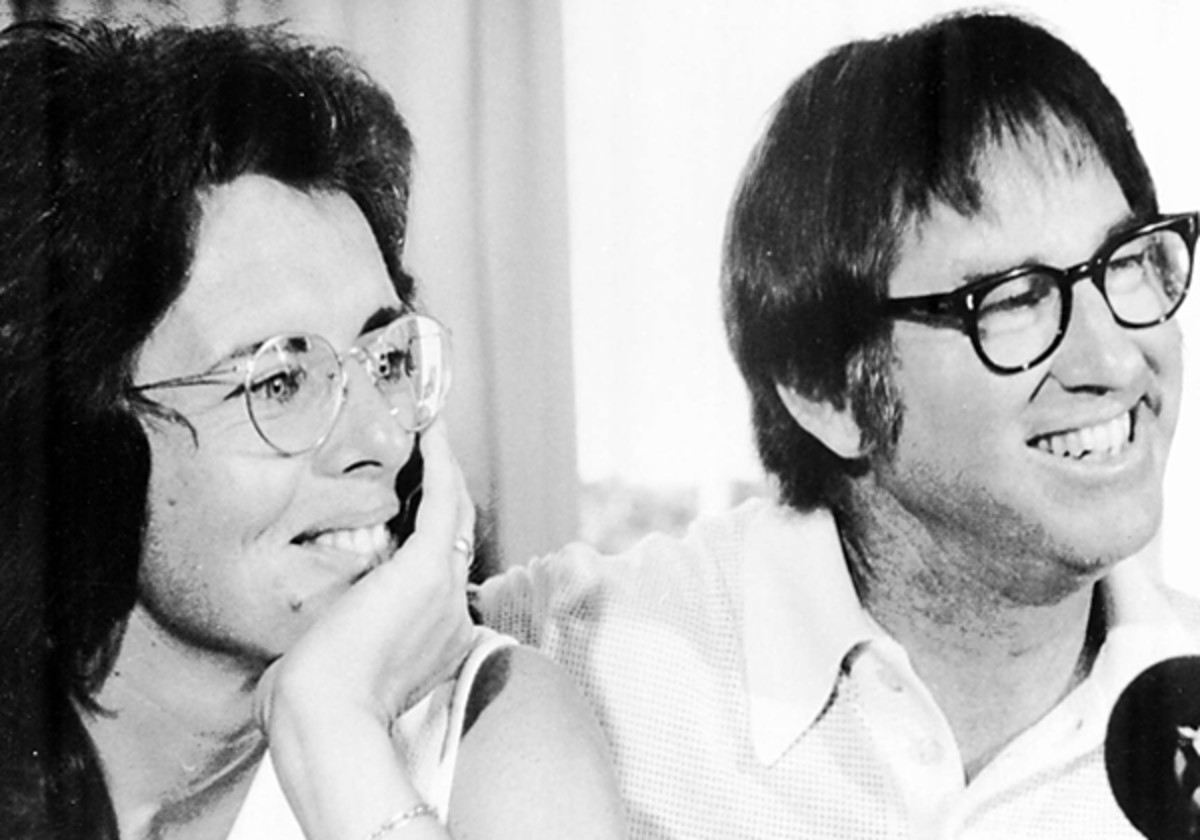"""Billie Jean King strongly refuted a report that suggested Bobby Riggs lost his """"Battle of the Sexes"""" match with her on purpose. (AP)"""