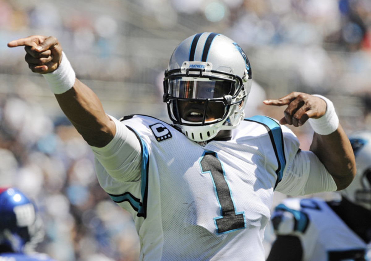 Cam Newton was fined because of the Under Armour logo visible on his helmet clips.