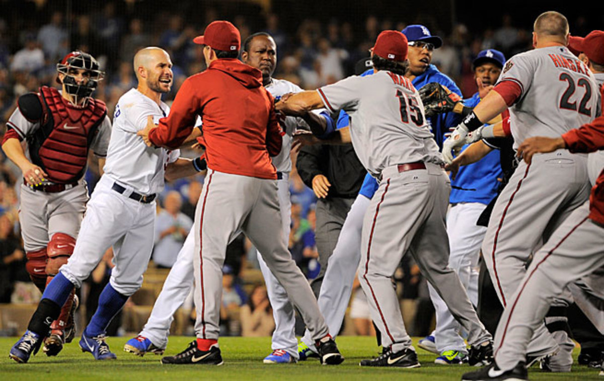 The Dodgers scuffled with the Diamondbacks just two months after a serious scrap with the Padres.