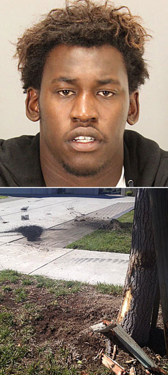 """Aldon Smith is """"suspended indefinitely"""" after being arrested on Friday for suspicion of DUI. (Jeff Gross/Getty Images)"""