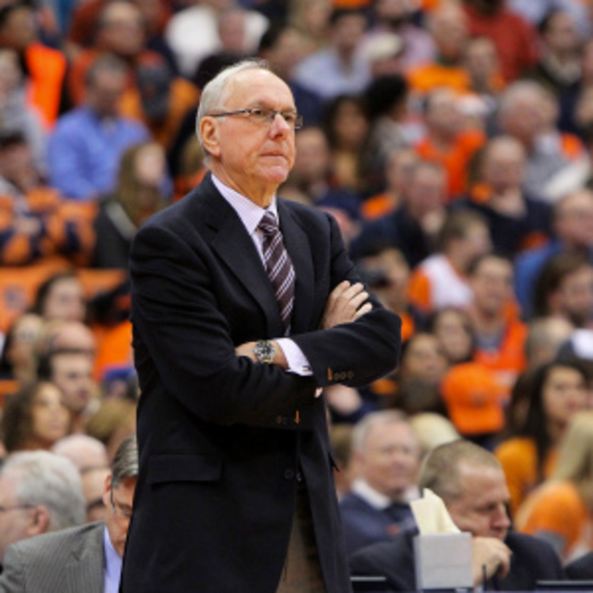 Jim Boeheim was at it again with reporters following Syracuse's loss to Marquette. (Nate Shron/Getty Images)