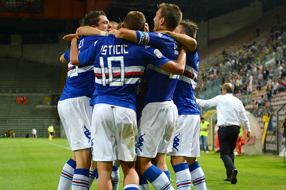 Sampdoria netted two goals in the game -- one in the 89th minute, and one in stoppage time.