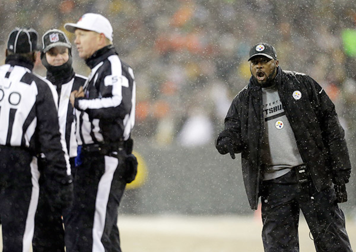 Mike Tomlin was not happy with the call following a blocked field goal.