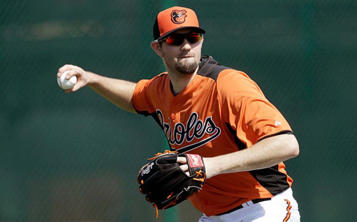 Orioles' starting pitcher Jason Hammel is 'happy' with the way his injured knee is responding.