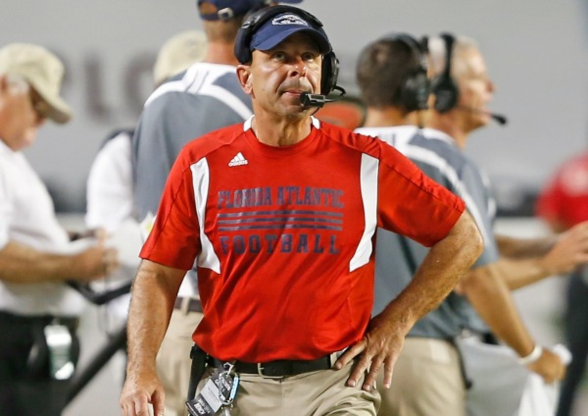 FAU originally said Carl Pelini was fired for using illegal drugs. (Joel Auerbach/Getty Images)