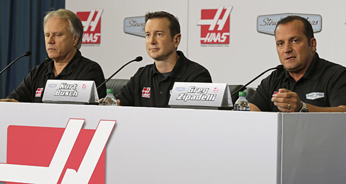 Co-owner Gene Haas (left) has added some spice to his fiery team by signing Kurt Busch.