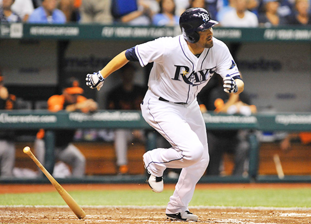 DeJesus was one of the offensive bright spots for the Rays, collecting four hits and the game-winner. (Al Messerschmidt/Getty Images)
