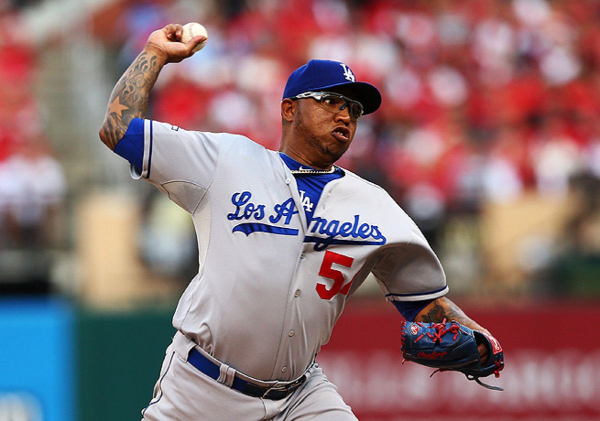 In 68 innings for the Dodgers this year, Ronald Belisario notched 49 strikeouts and put up a 3.97 ERA.