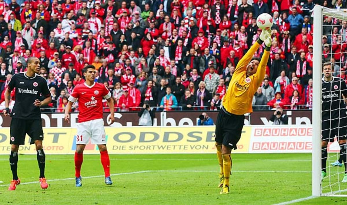 Oka Nikolov has made more than 300 appearances for Eintracht Frankfurt.