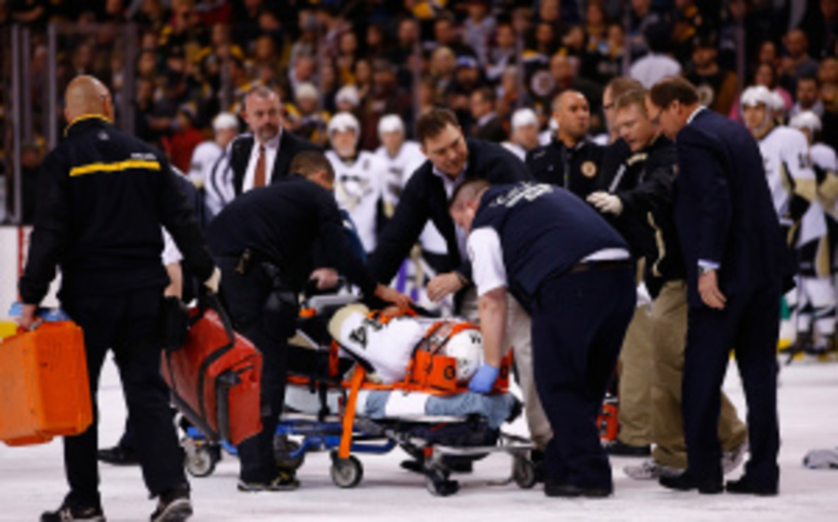 Bruins forward Shawn Thornton will forfeit $84,615 for a hit that left Penguins defenseman Brooks Orpik unconscious on Dec. 7. (Jared Wickersham/Getty Image)