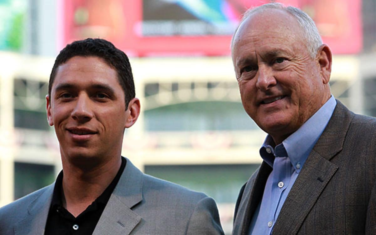 Rangers GM Jon Daniels, CEO Nolan Ryan reportedly got an heated argument. (Ronald Martinez/Getty Images
