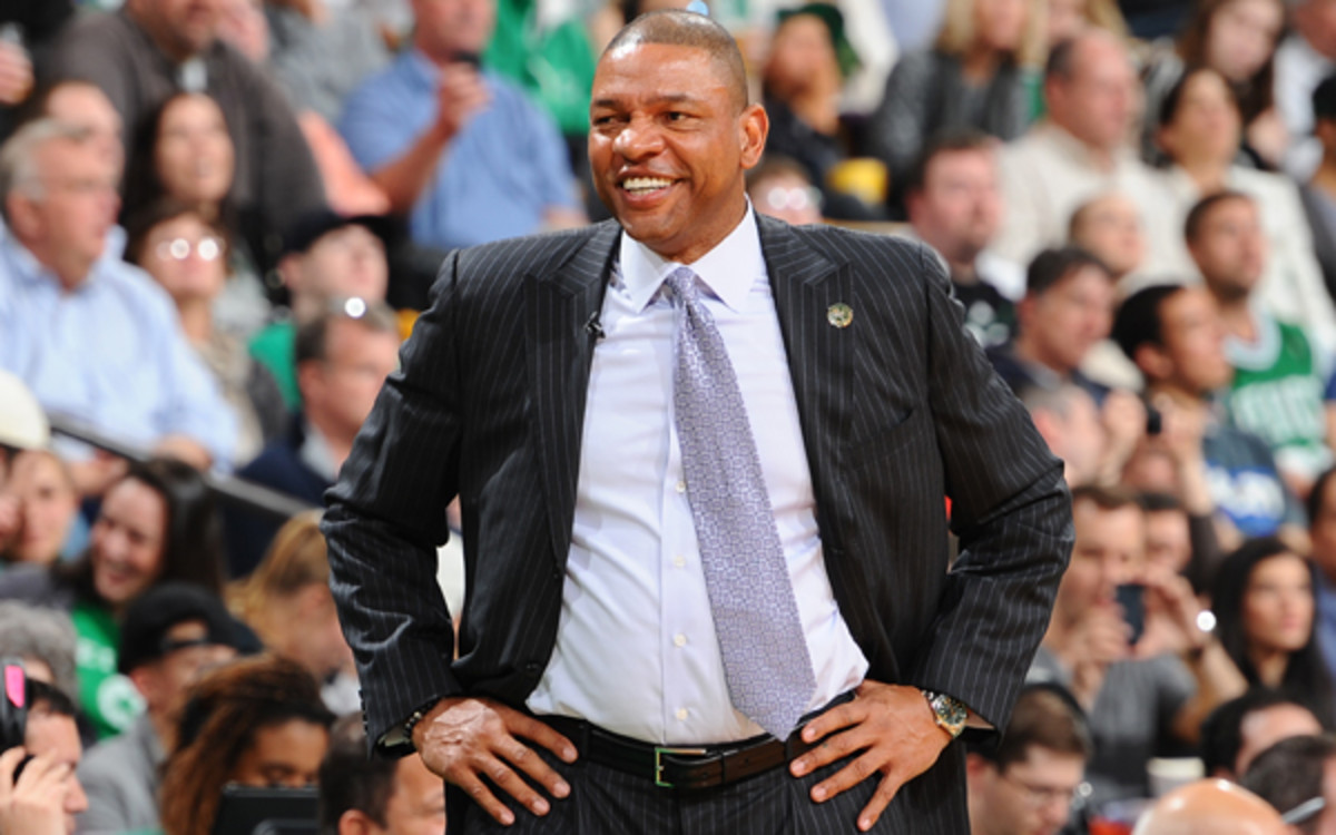Doc Rivers has three years remaining on a five-year extension. (Steve Babineau/NBAE via Getty Images)