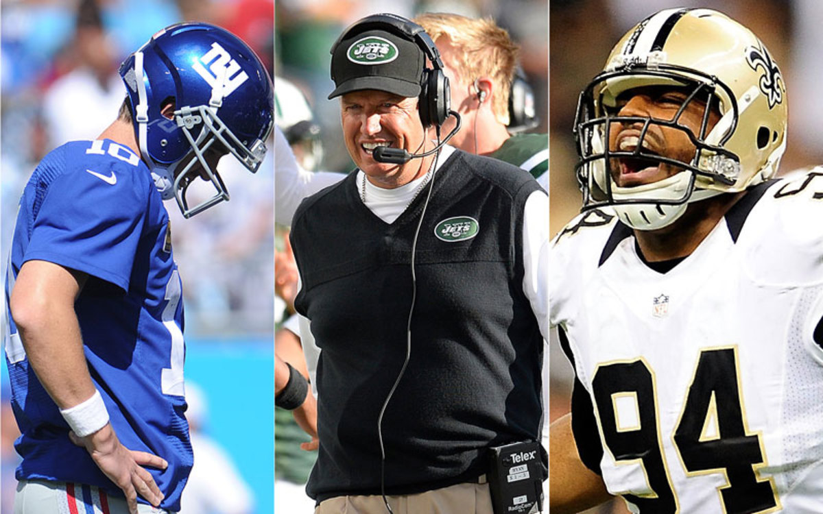 The Giants are 0-3, the Jets are 2-1 and the Saints' defense is shining. Who knew?