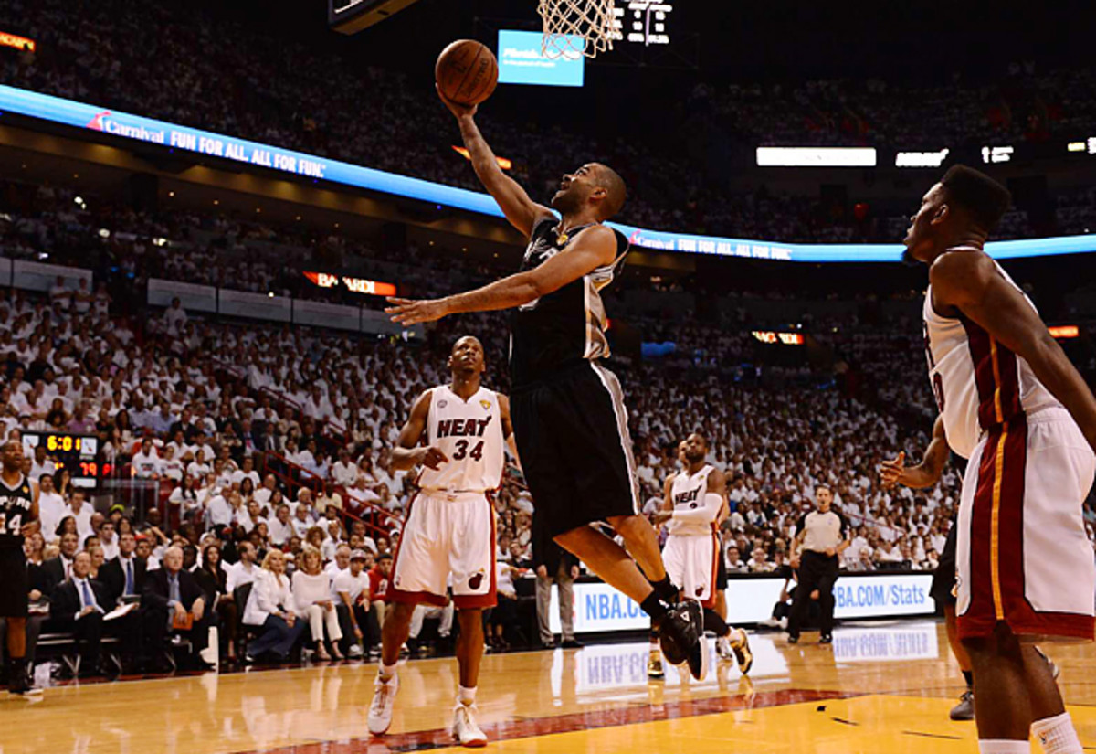 Tony Parker worked free of the Heat defense to score 21 points in San Antonio's Game 1 win in Miami.