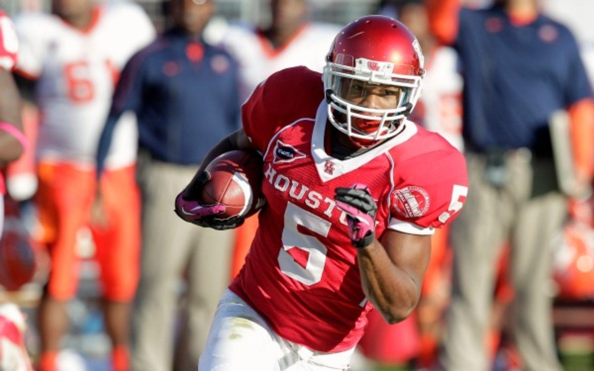 Houston leading rusher Charles Sims will reportedly transfer from the school. (Bob Levey/Getty Images)