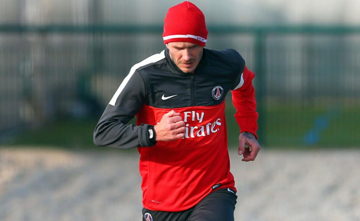 David Beckham has spent the past week training with his new team, Paris Saint-Germain.