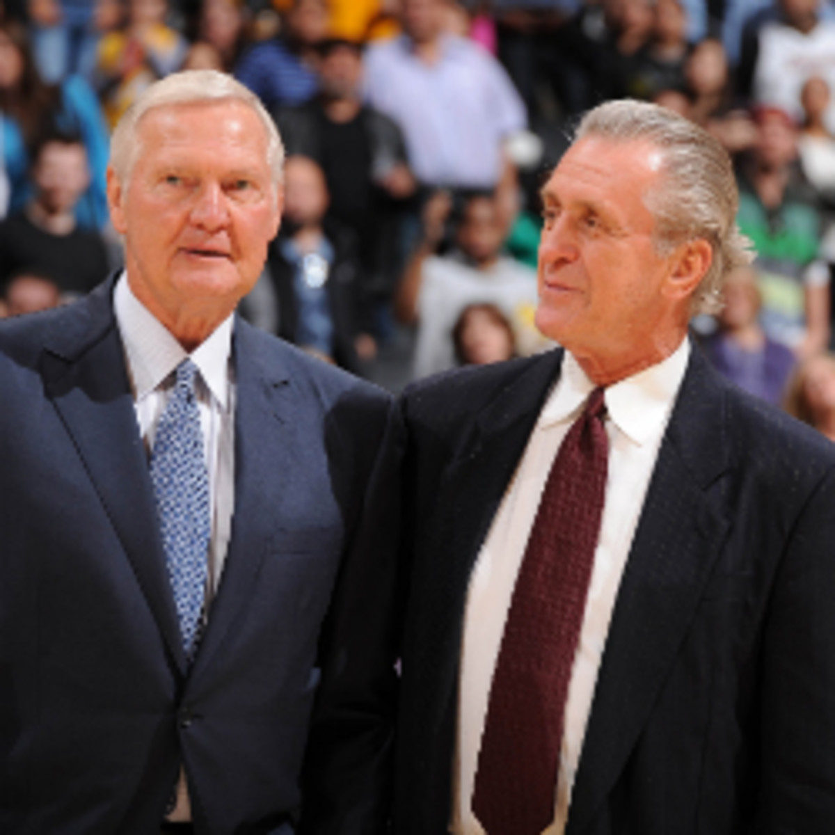 """Former Lakers star Jerry West said he thinks the Heat have an """"incredible chance"""" to break the Lakers' record of consecutive victories. (Andrew D. Bernstein/Getty Images)"""