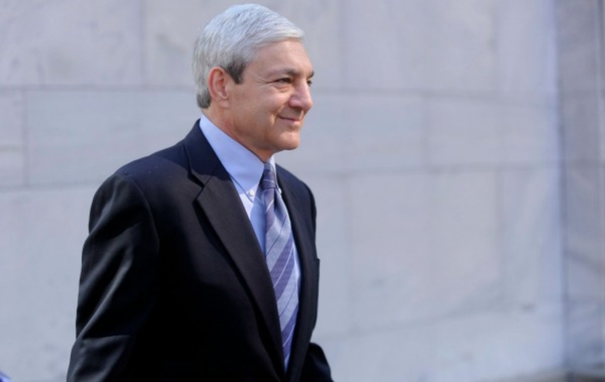 Former Penn State president Graham Spanier, along with two other former school officials, will face charges connected to a coverup of Jerry Sandusky's sexual abuse. (Getty Images)