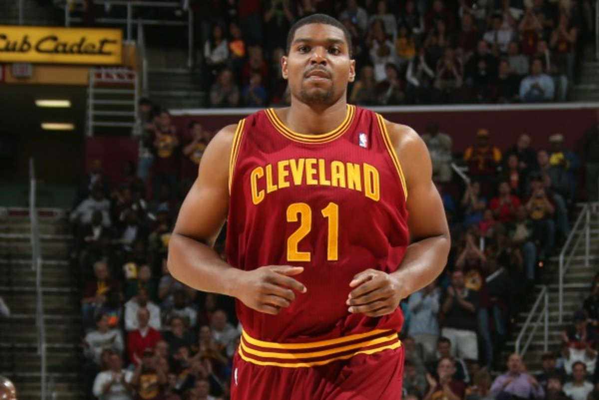 The Cavs suspended former Laker Andrew Bynum for conduct detrimental to the team. (Ned Dishman/NBAE via Getty Images)