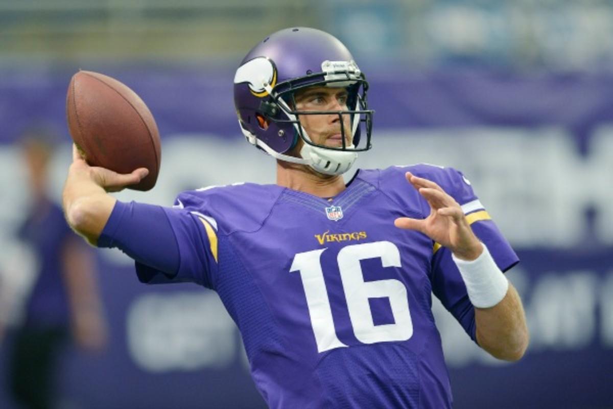 Matt Cassel will start for the Vikings against the Steelers. (Tom Dahlin/Getty Images)